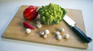 Kochmesser zerkleinern von Lebensmitteln