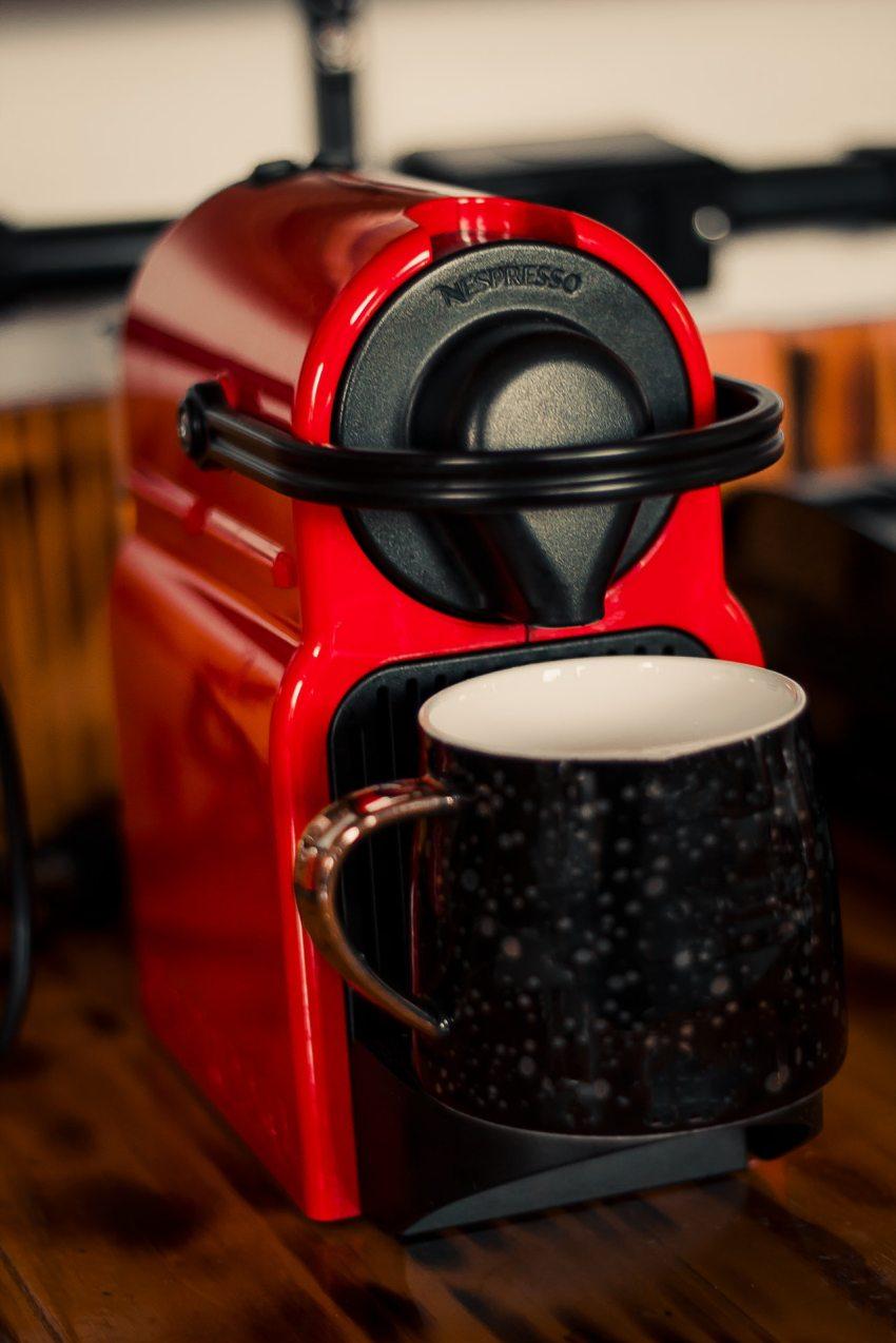 Eine kleine Espressomaschine
