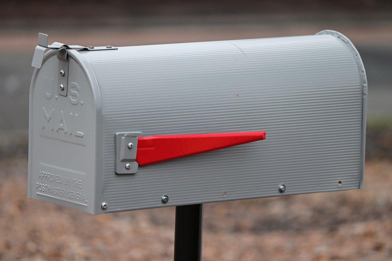 PrimeMatik Aluminium US Mail Postkasten f/ür die amerikanische Post Silber