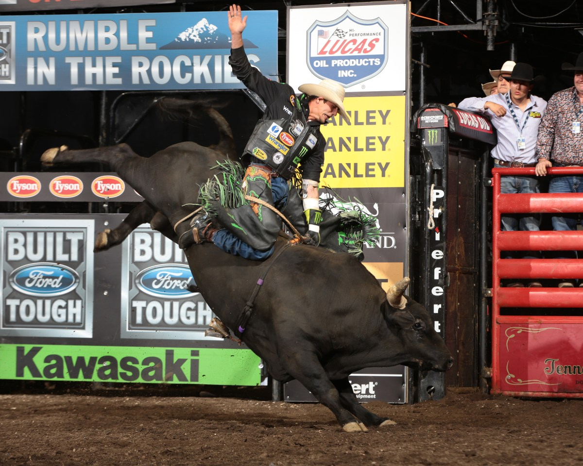 during the second round of the Colorado Springs Built Ford Tough Series PBR. Photo by Andy Watson