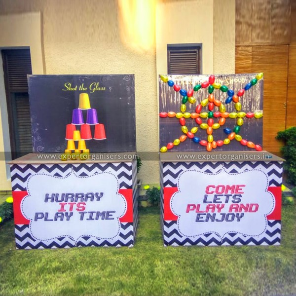 Shot the Glass Pyramid & Balloon Gun Shoot Game Stall on Rent in Chandigarh, Mohali, Panchkula, Zirakpur, Kharar.