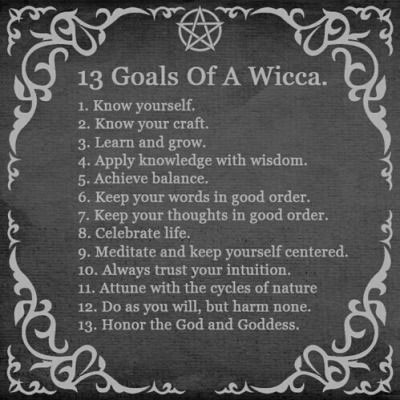 13 Goals OF Wicca