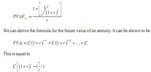 Annuityf Continuously Compounded Annuity Formula