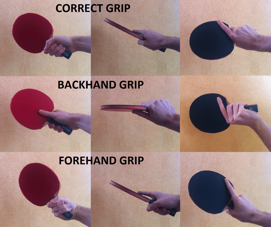 table tennis grip examples