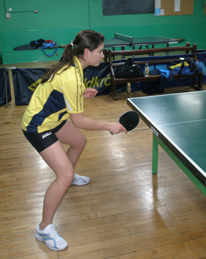 table tennis stance
