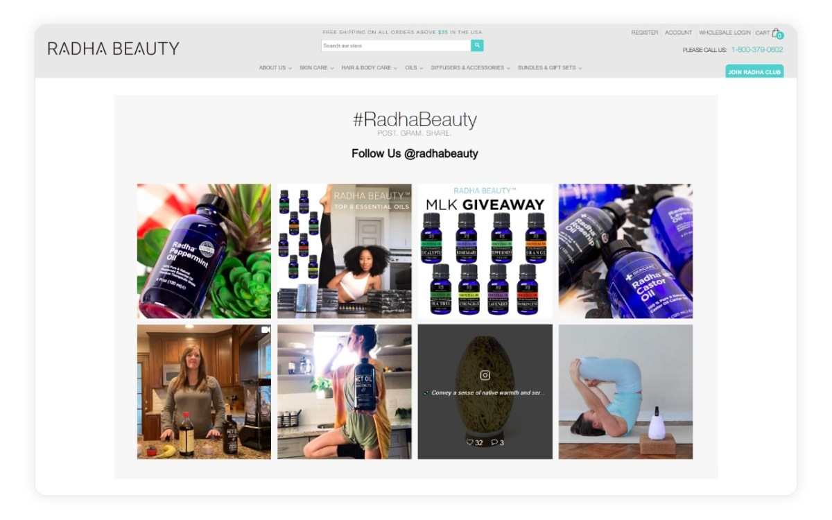 Add your Shopify Instagram Feed to any page - home page