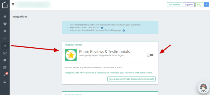 flits integration photo reviews app