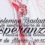 cartel solemne traslado esperanza marzo 2018