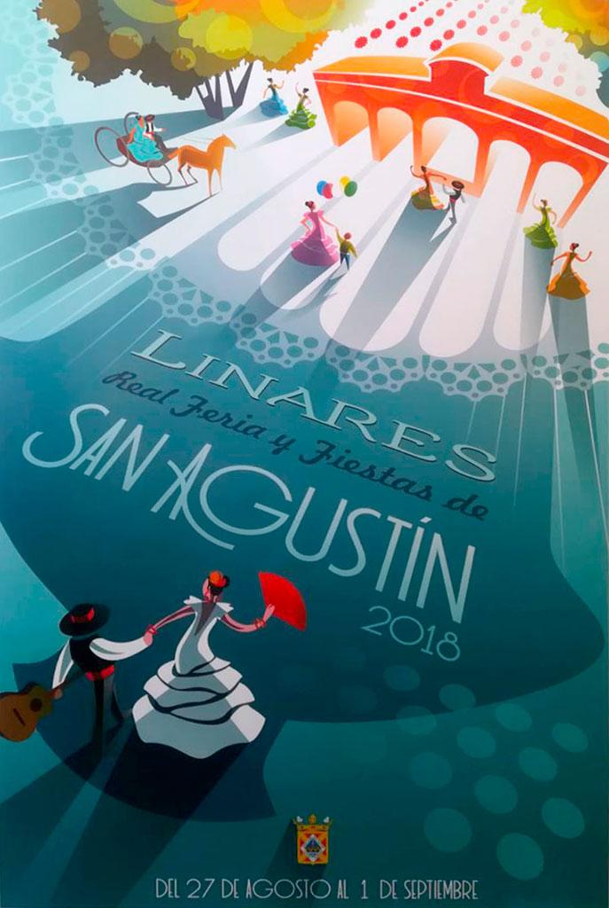 Cartel de la Real Feria de San Agustín de Linares 2018