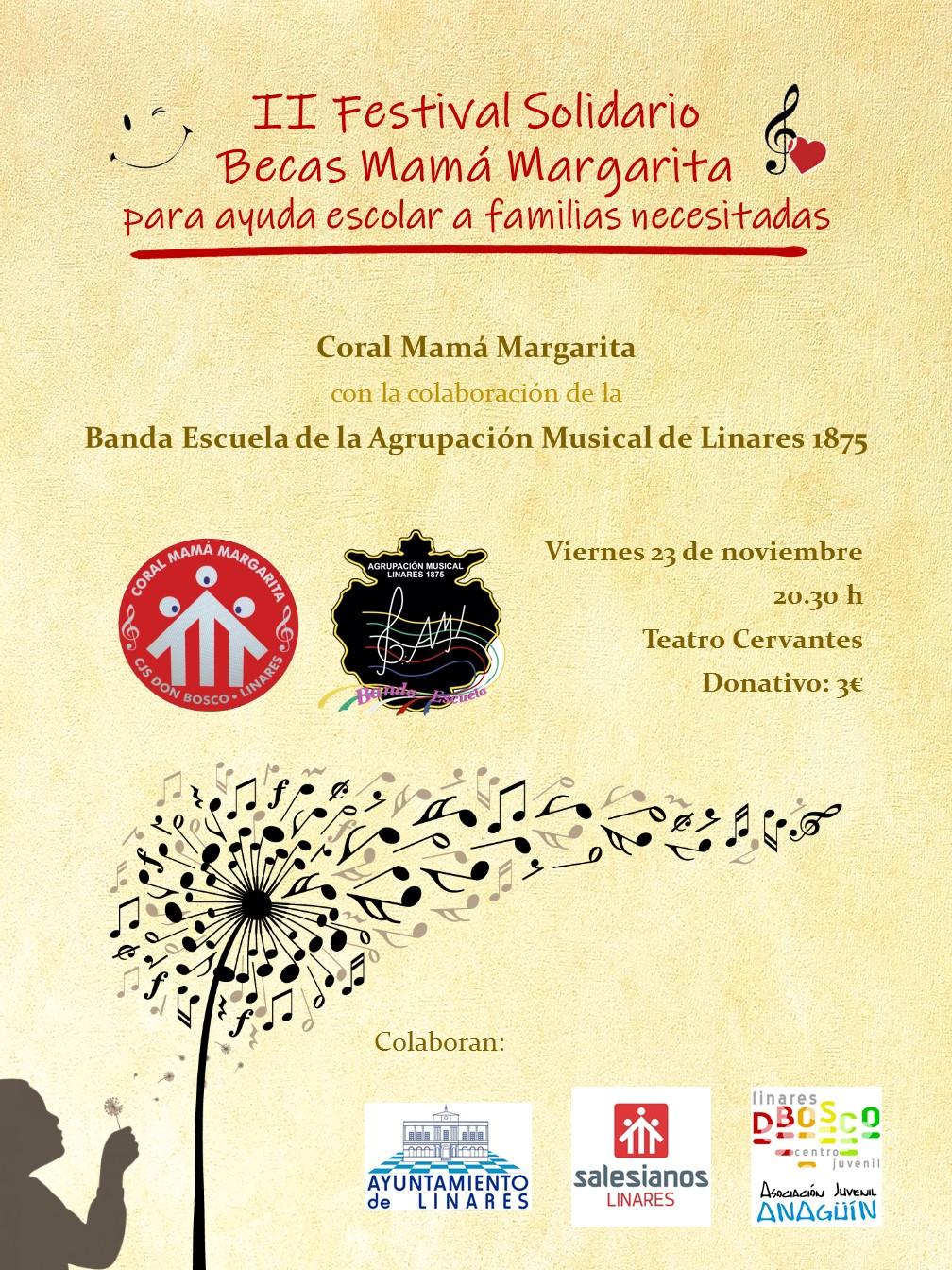 cartel del ii festival becas coral margarita
