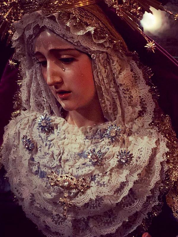 Ntra. Sra. de Gracia de Linares durante la celebración de la Inmaculada Concepción