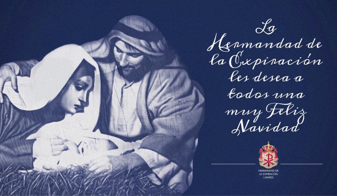 Felicitación navideña de la Expiración diseñada por el hermano Luis Francisco Gómez.