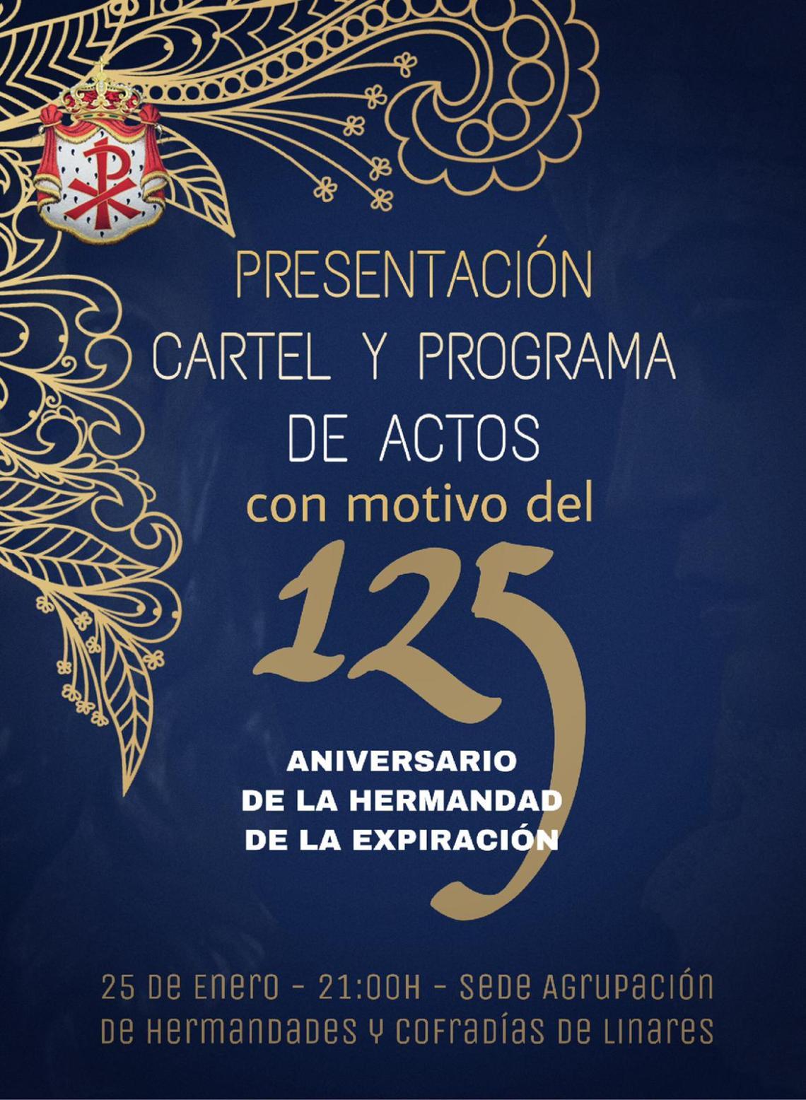 El 25 de enero se presentarán en la Agrupación de Cofradías los actos del 125 aniversario