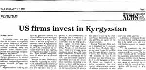 US firms invest in Kyrgyzstan by Ian Pryde 1 January 1993