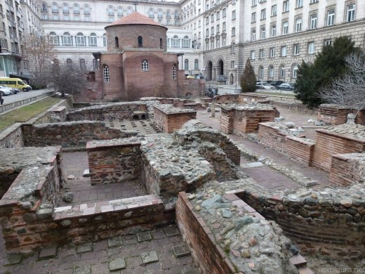 Ancient ruins within Sofia's.. palace?
