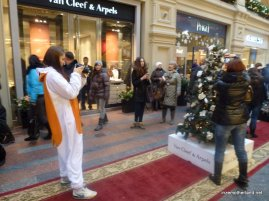 Onesie + nice camera + one of the world's most exclusive malls = check!