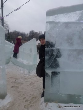 We found an ice castle in Sokolniki Park - whoohoo!!