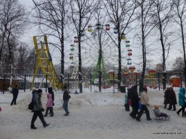 I love that it's the middle of winter in Moscow and there's a ferris wheel.