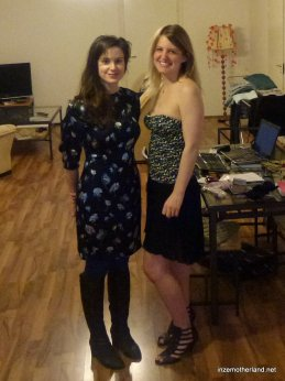 Karie and I before setting off for the evening.
