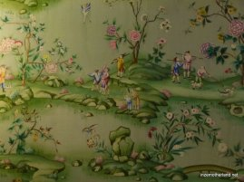The wall-paper in every room was different, and super-intricate. I'd never have thought I'd find wallpaper so interesting!