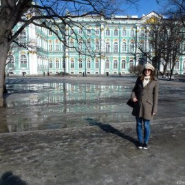 Jess by the Hermitage.