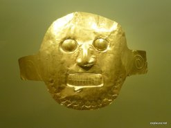 A gold death-mask.