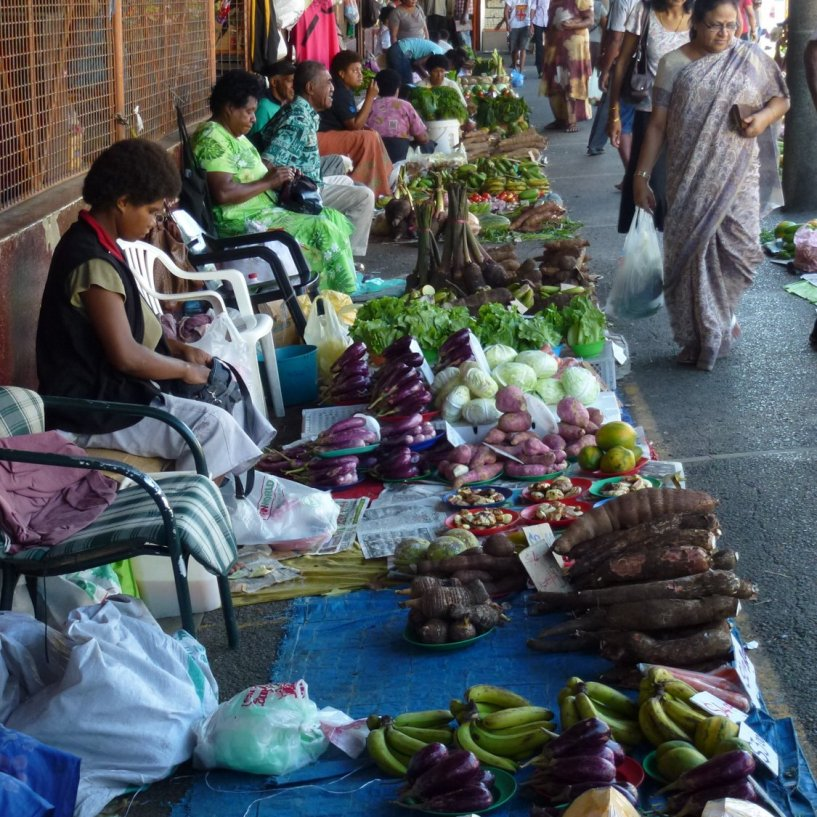 Part of the vast markets in the centre of Lautoka