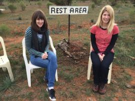 The 'eternal rest area' (for the record, in the middle of absolutely nowhere), as Jess and Nikky look anxious.
