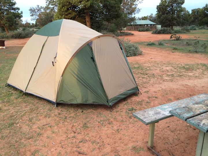 Jess' new tent, and our home for four nights.
