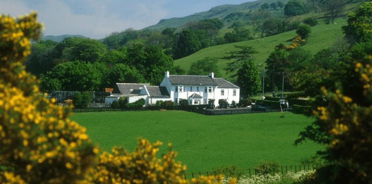 alojamiento granja escocesa