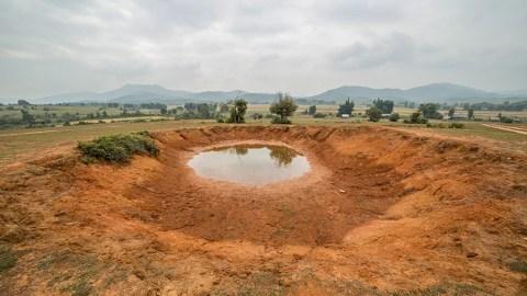 Xieng Khouang Laos - Bomb Craters