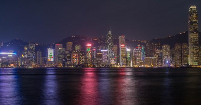 Skyline Hong Kong Nachts