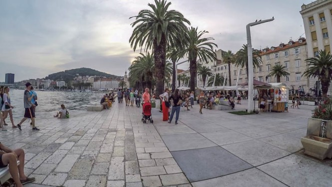 Kroatien Roadtrip: Uferpromenade Riva