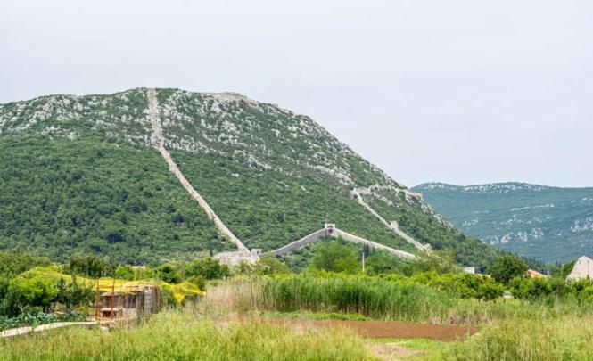 Mauer Mali Ston