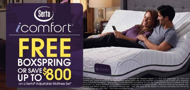 The Deal Stop Into America S Mattress Gallery And Save Up To 800 On An Adjule Base Or Receive A Free Box Spring With Purchase Of Qualifying