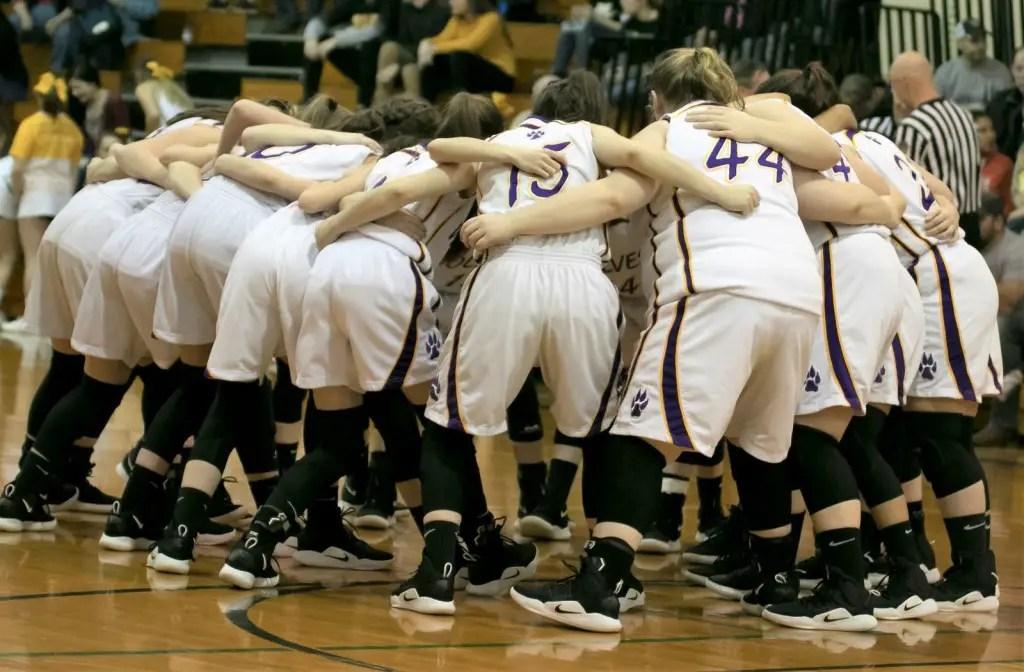 Girls Basketball Huddle