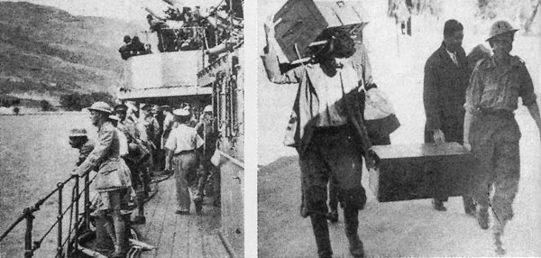 Allied troops arrive to Crete for the Battle of Crete