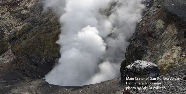 Gamkonora Volcano, last eruption with preatic on February 2013, also very active volcano with big crater