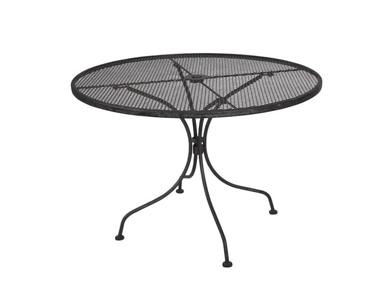 round steel mesh patio table