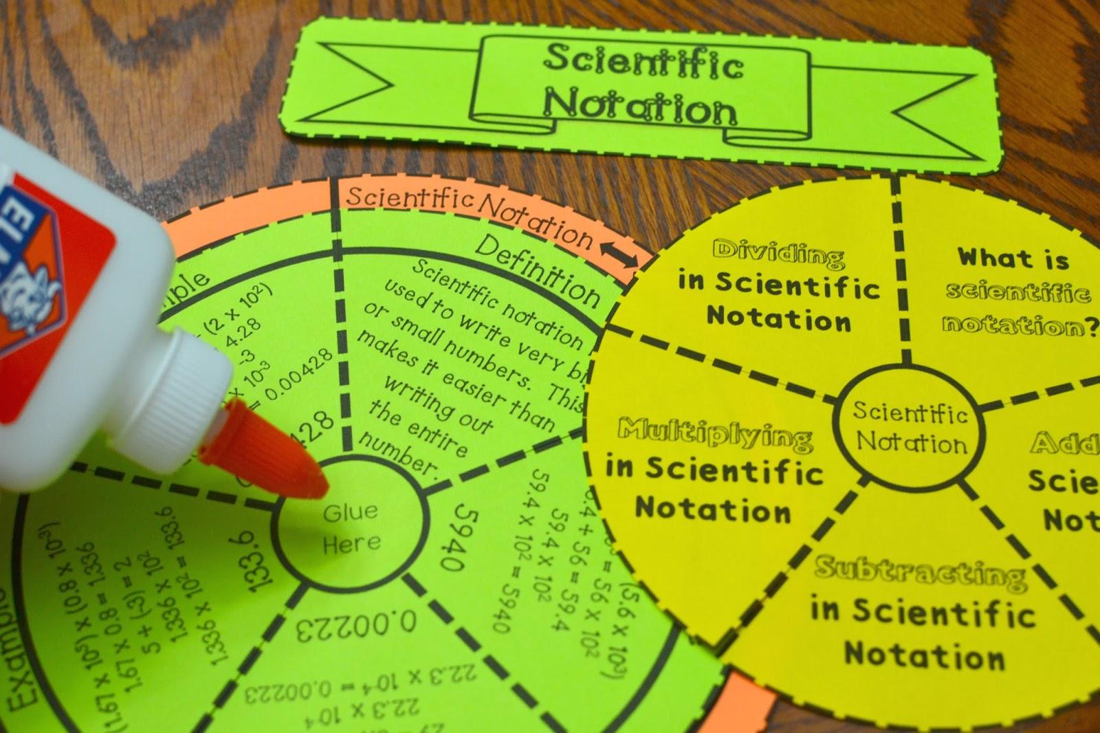 Scientific Notation Wheel Foldable