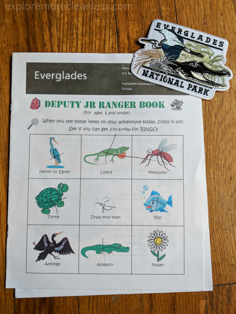everglades junior ranger booklet