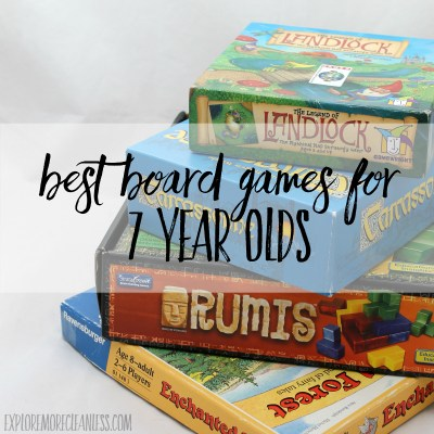 Best Board Games for 7 Year Olds