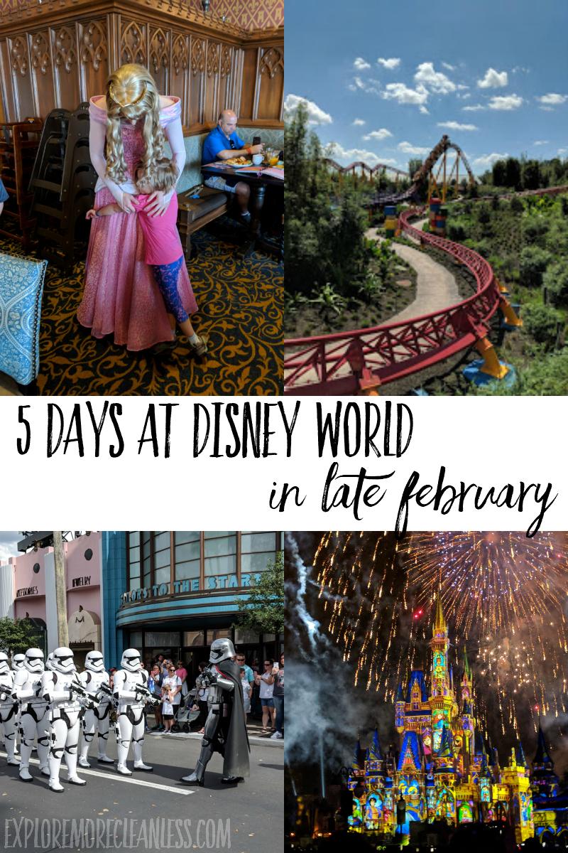 walt disney world itinerary 5 days february march