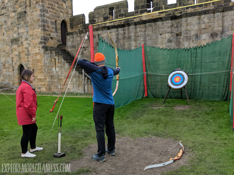 archery at a castle in england