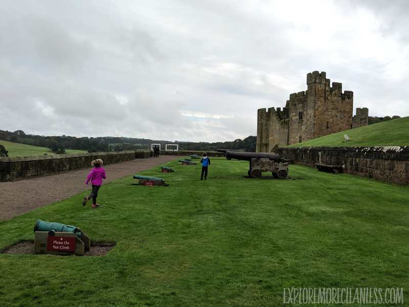 northern england castle with kids