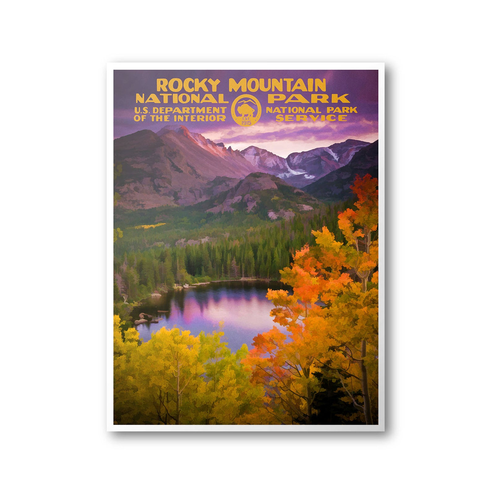 rocky mountain national parks print