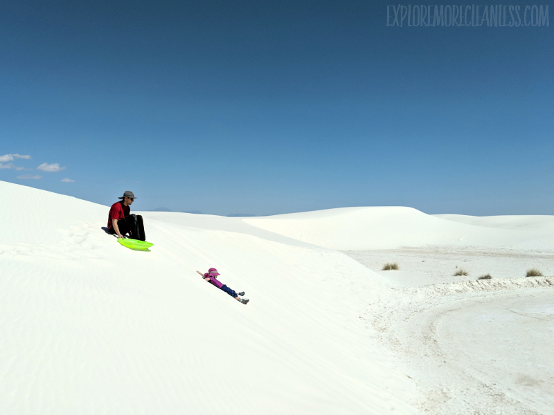sleddin kids white sands national monument new mexico