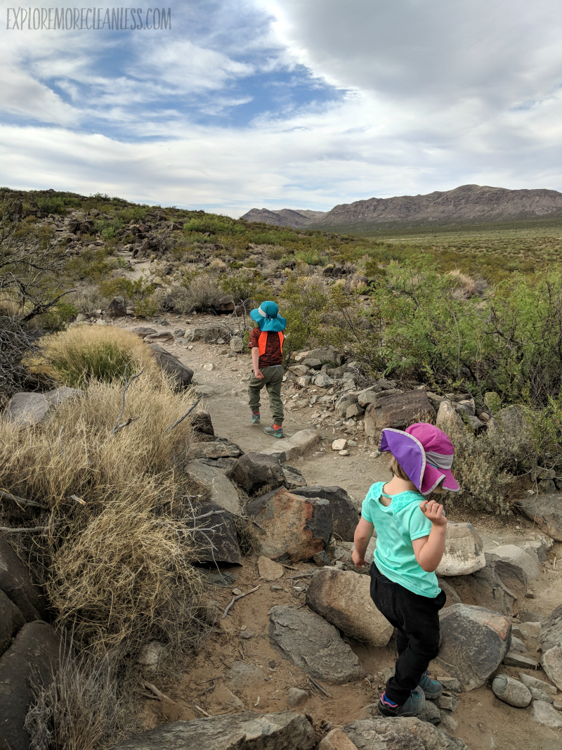 hiking trail three rivers petroglyph site