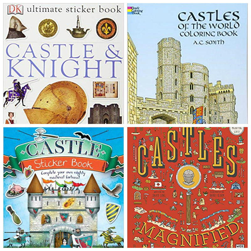kids activity books about castles
