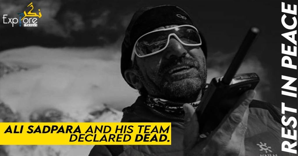 Ali Sadpara, two other mountaineers missing on K2 declared dead